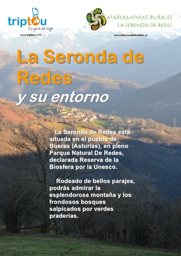 Guía del Entorno en Redes - Casa Rural en  Redes, Asturias