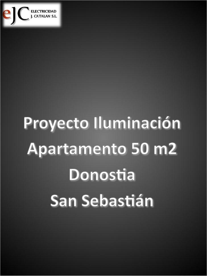 Instalación eléctrica completa e iluminación en Apartamento de 50m2 en Donostia - San Sebastián