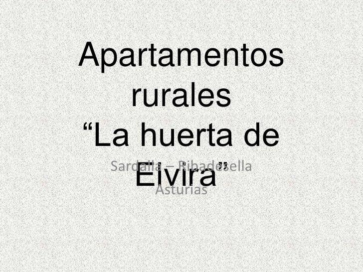 Apartamentos Rurales