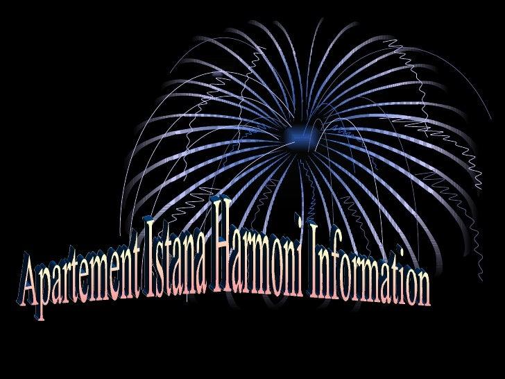 Apartement Istana Harmoni Information