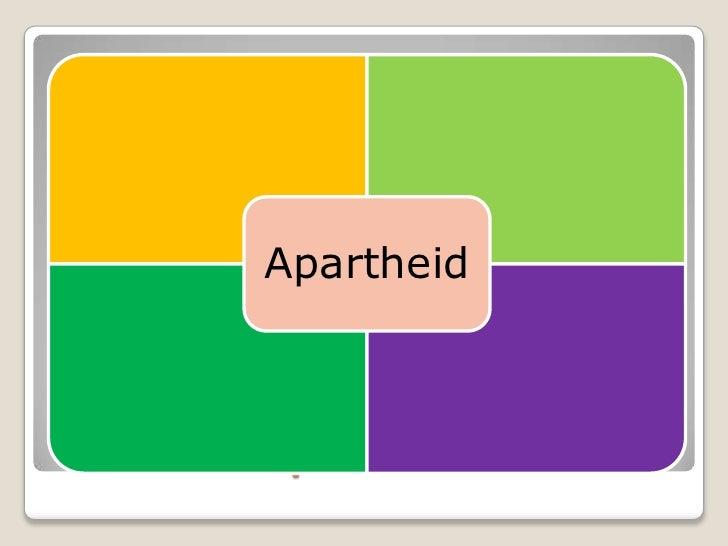 Apartheid¿Qué significa para tí el concepto           apartheid?