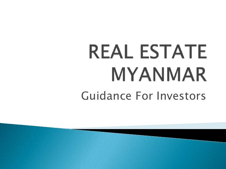 Apartment and house for sale in myanmar yangon or sea side