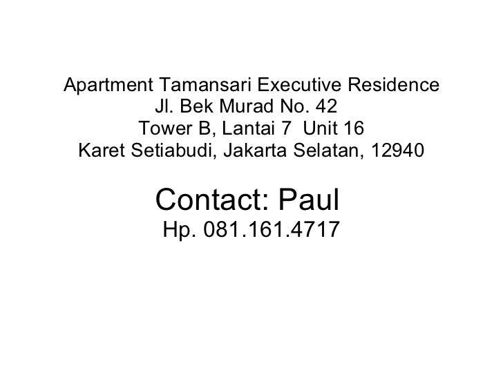 Apartment tamansari executive residence