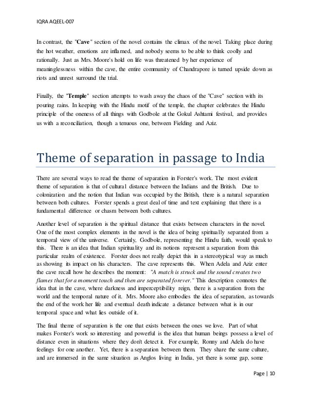 analysis of a passage to india A passage to india themes motifs symbols  passage to india begins and ends by asking whether it is  previous post previous a passage to india analysis of major.