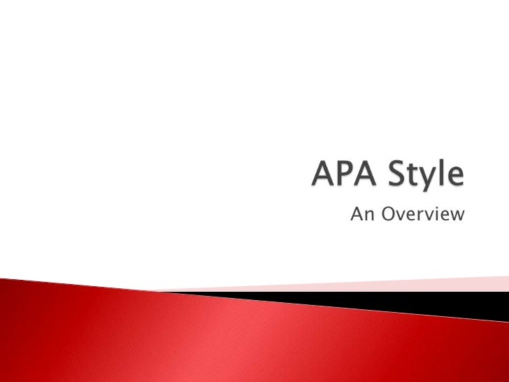 APA Style-Citation and Reference Guide