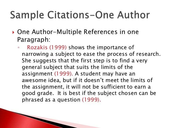 Multiple citation