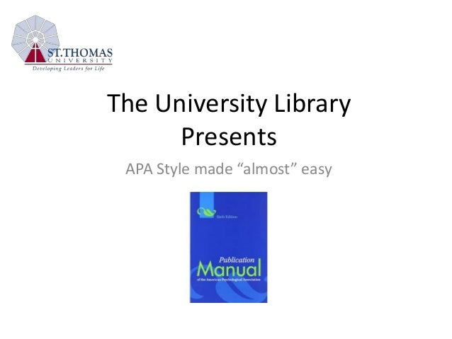 Basics of APA Formatting - APA Style: Citing Your Sources ...