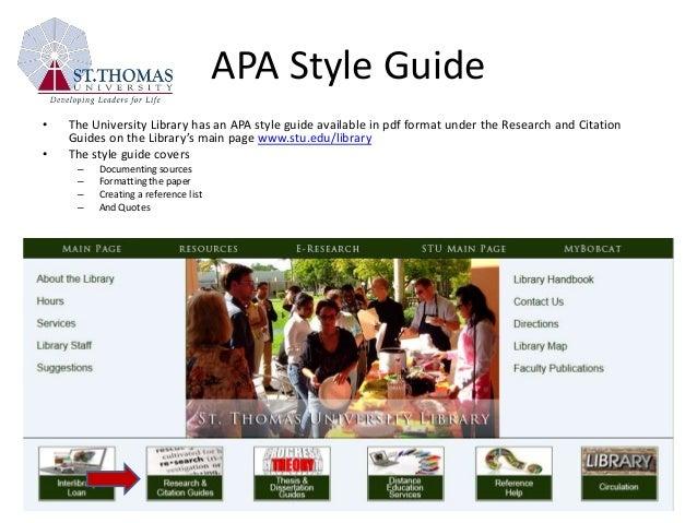 APA Handouts & Tutorials   CUNY School of Professional ...