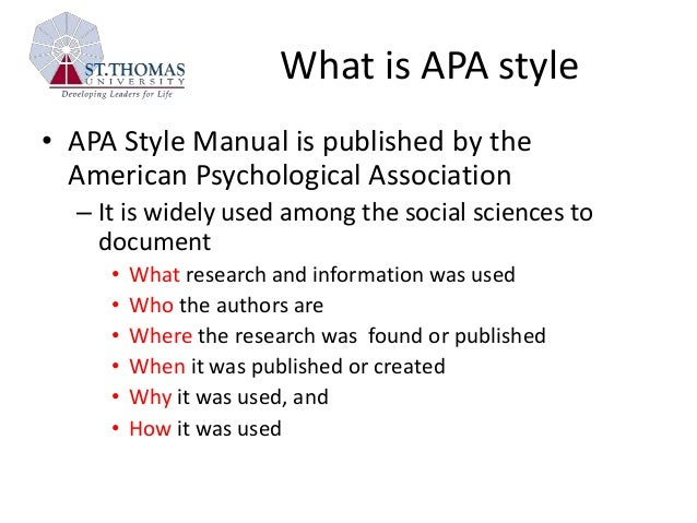What Is Apa Essay Style