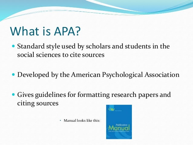 what is the apa style format