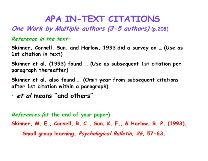 Apa citations within text