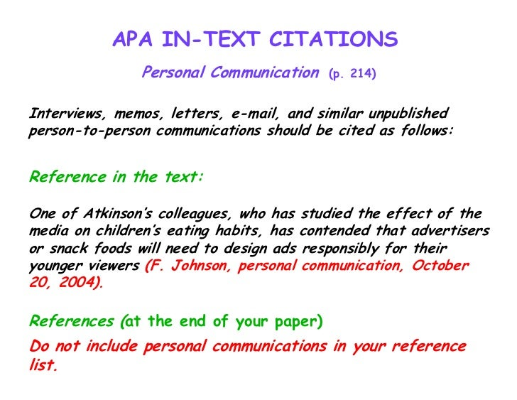 apa format for an interview