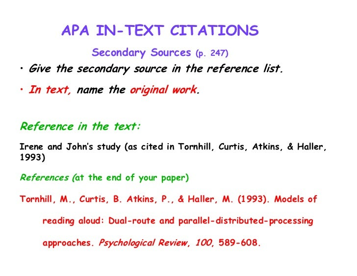 research paper in apa format 6th edition General format in-text citation (paraphrase): (author surname, year) in-text citation (quotation): (author surname, year, page number) references: author surname, first initial second initial (year, month day) article title: subtitle newspaper title, page range retrieved from url [if viewed online.