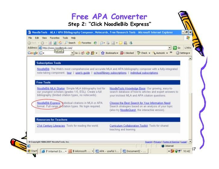 apa style converter