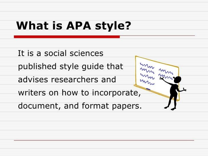 What's APA?