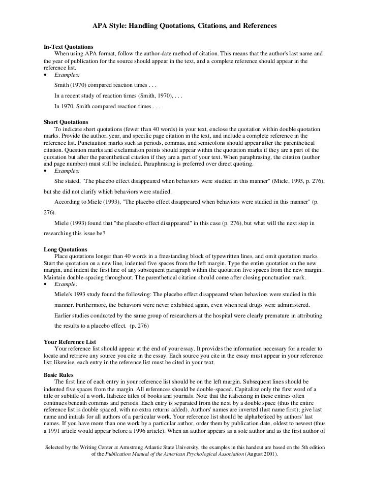 font size for essays in college