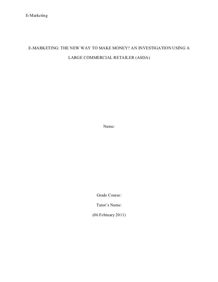 A Dissertation Report On Marketing