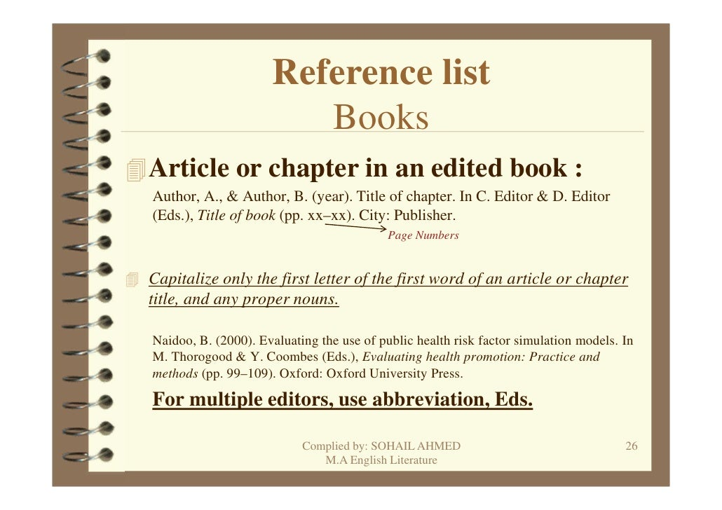 referencing in apa style
