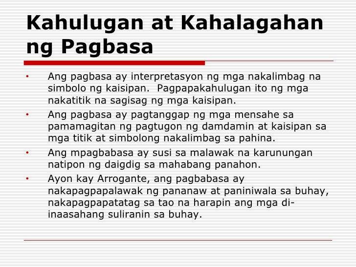 kahalagahan ng pagbasa sa tao Kahulugan at kahalagahan ng pagbasa - download as powerpoint presentation (ppt), pdf file (pdf), text file (txt) or view presentation slides online.
