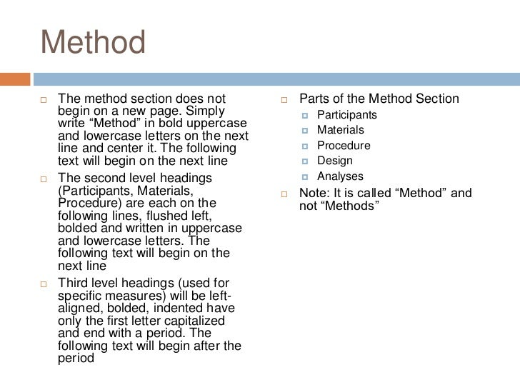 methods section apa example