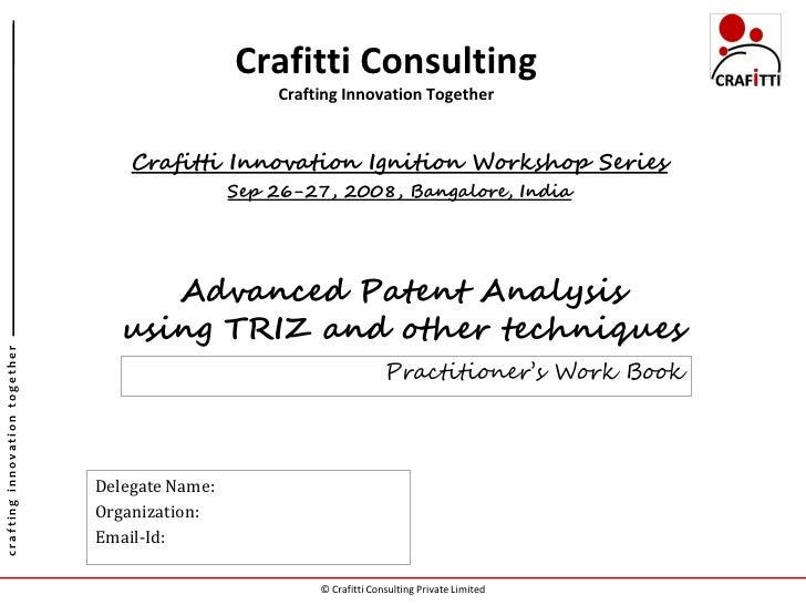 Advanced Patent Analysis Work Book