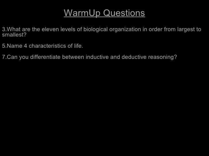 A View of Life                         WarmUp Questions3.What are the eleven levels of biological organization in order fr...