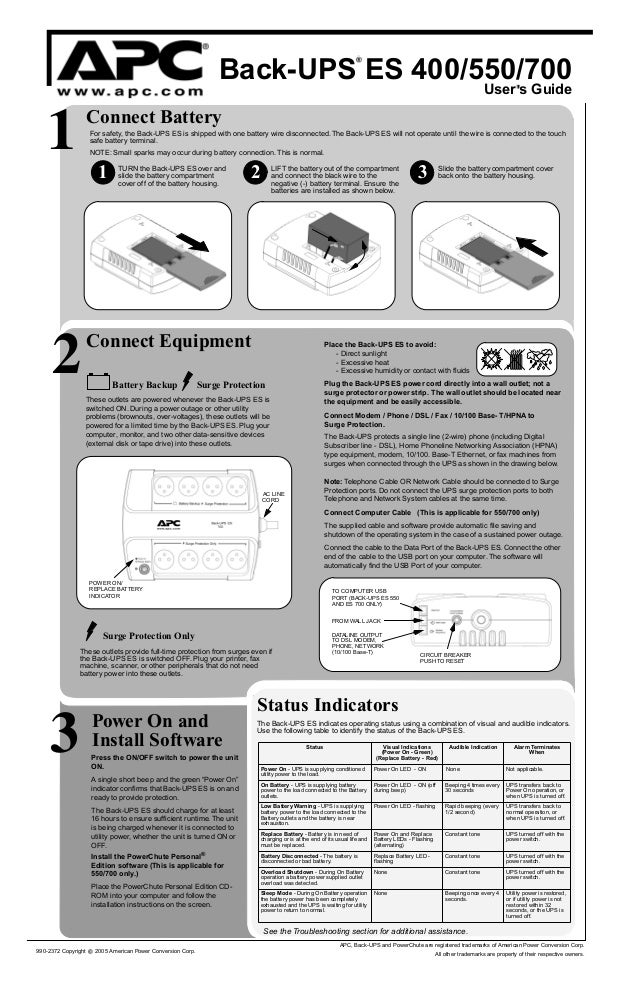 Apc Back-ups 400 Инструкция На Русском
