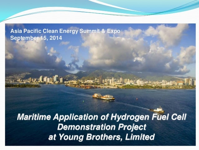Maritime application of hydrogen fuel cell demonstration - The net a porter group asia pacific limited ...