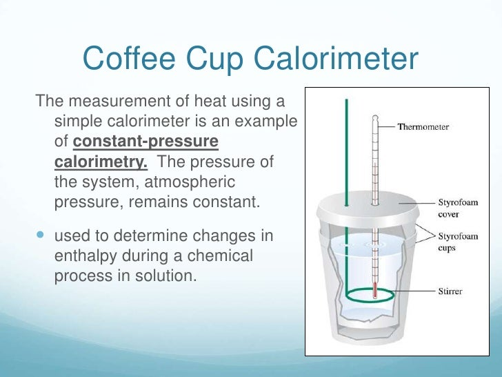 Calorimeter Problems Coffee Cup Coffee Cup Calorimeter