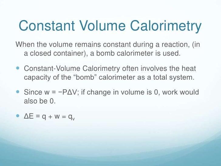 Equation For Bomb Calorimeter Bomb Calorimeter is Used