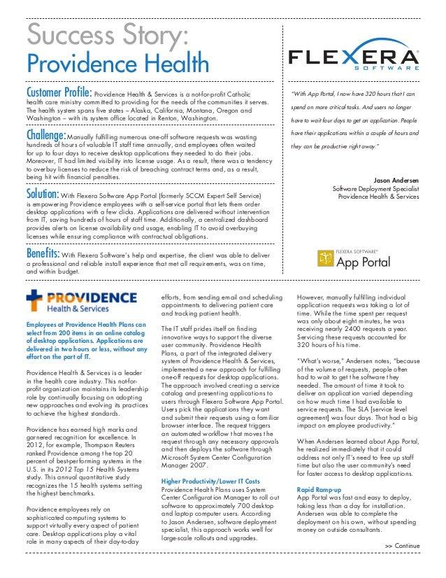 App Portal Providence Health Success Story