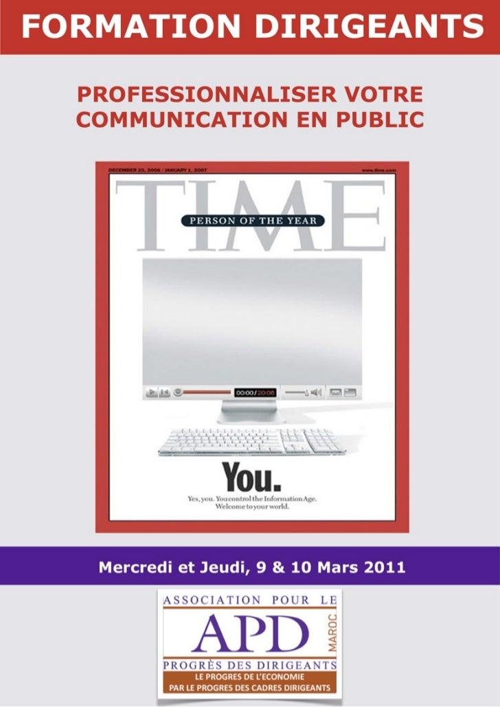 APD MAROC FORMATION _PROFESSIONNALISER VOTRE COMMUNICATION EN PUBLIC