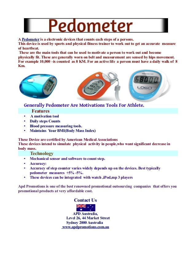 A Pedometer is a electronic devices that counts each steps of a persons. This device is used by sports and physical fitnes...