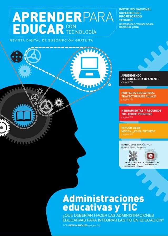 APRENDERPARA EDUCAR CON TECNOLOGÍA  INSTITUTO NACIONAL SUPERIOR DEL PROFESORADO TÉCNICO UNIVERSIDAD TECNOLÓGICA NACIONAL (...