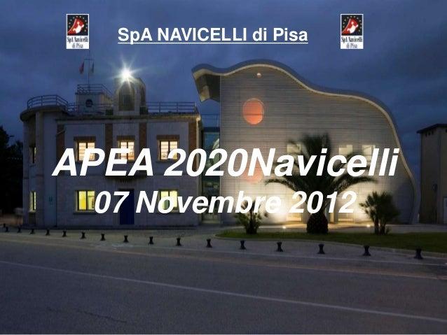 SpA NAVICELLI di PisaAPEA 2020Navicelli  07 Novembre 2012