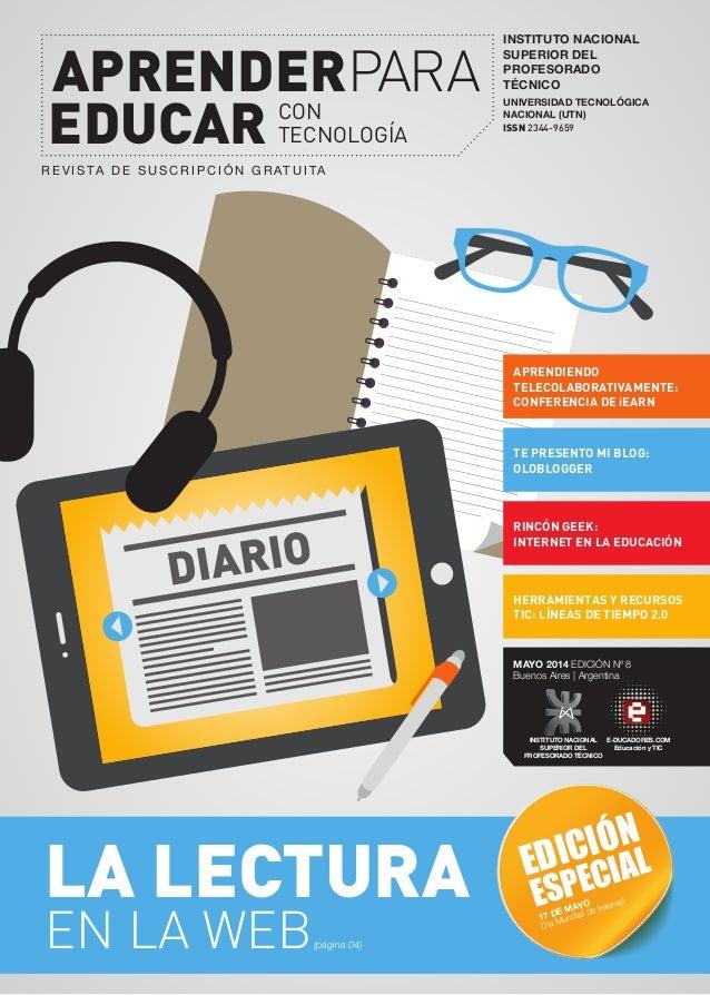 Aprender para educar con Tecnología. Edición Nº 1. Mayo 2014