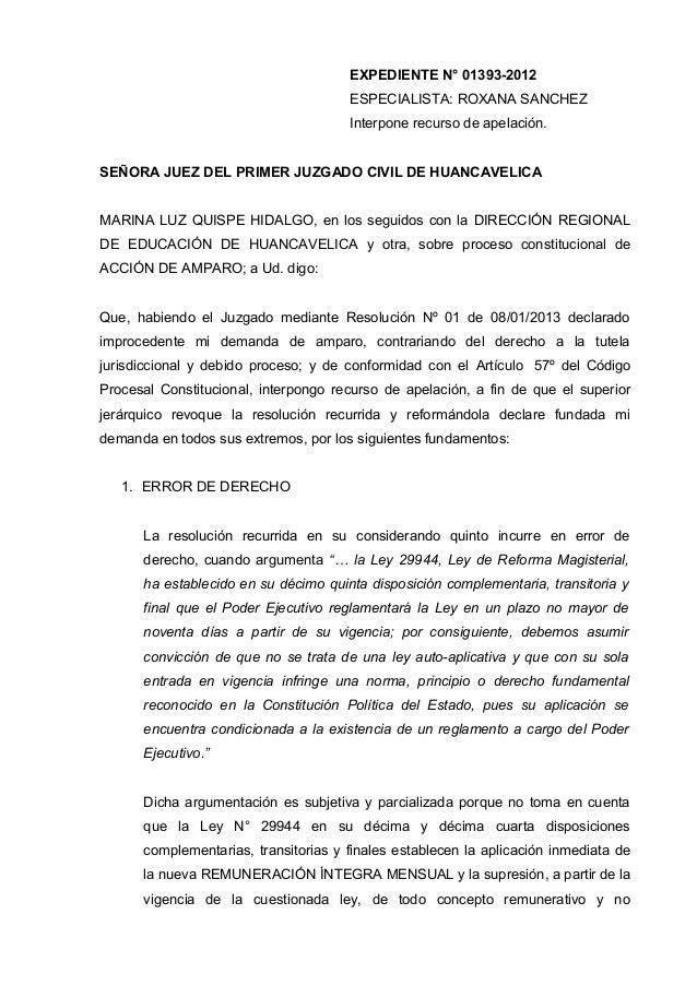 EXPEDIENTE N° 01393-2012                                      ESPECIALISTA: ROXANA SANCHEZ                                ...