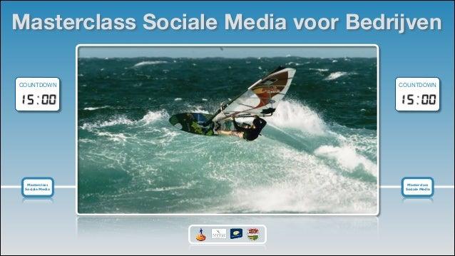 Masterclass Sociale Media voor Bedrijven COUNTDOWN  COUNTDOWN  Masterclass   Sociale Media  Masterclass   Sociale Media ...