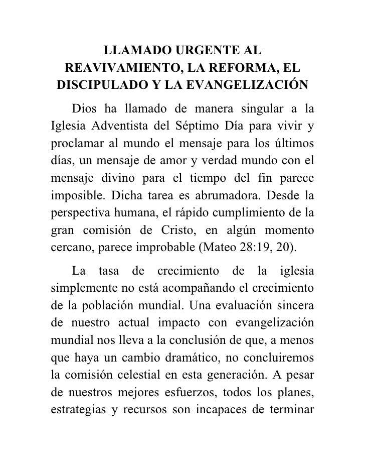 Apelo urgente reavivamento espanhol