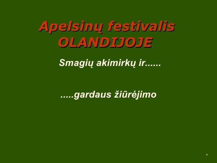 Apelsinu festivalis