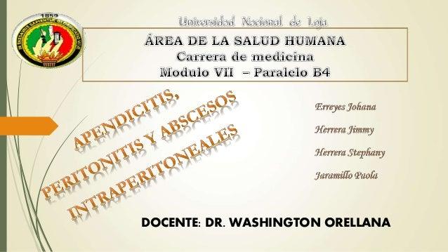 DOCENTE: DR. WASHINGTON ORELLANA