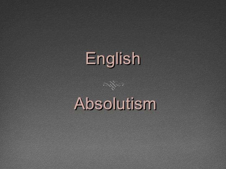 English  Absolutism