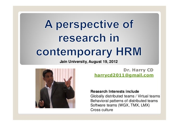 Jain University, August 19, 2012                              Dr. Harry CD                   harrycd2011@gmail.com        ...