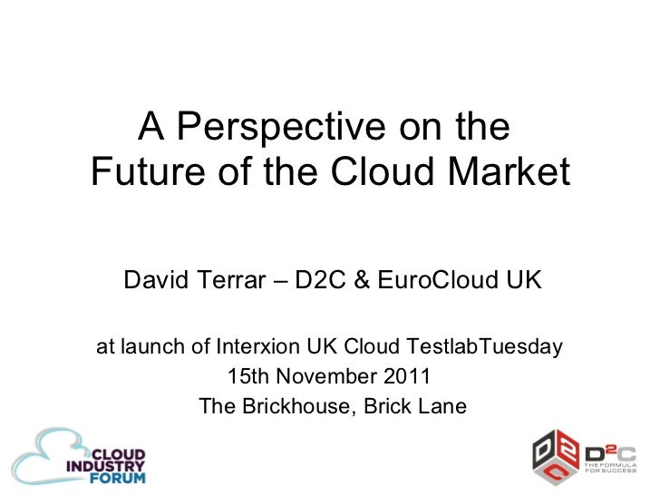 A perspective on the future of cloud market   interxion