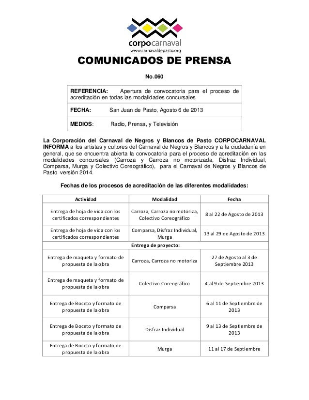 Apertura convocatoria 2014