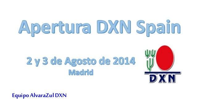 Apertura DXN Spain - Recetas de Dato´ Dr Lim Siow Jin - 02-08-2014