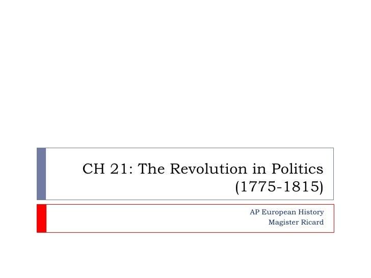 AP Euro CH 21 Part 1