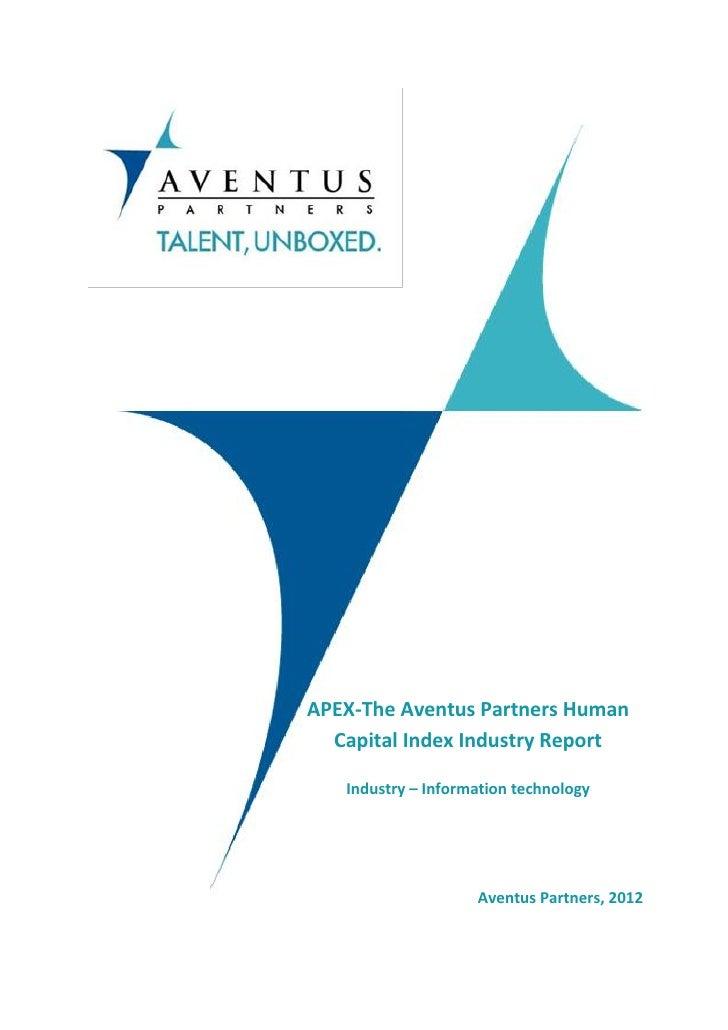 Apex Human Capital Index Report- IT industry