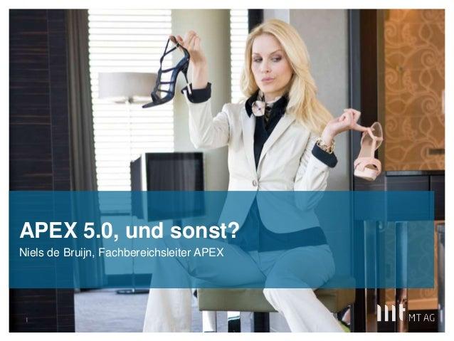 APEX 5.0, und sonst?  Niels de Bruijn, Fachbereichsleiter APEX  |