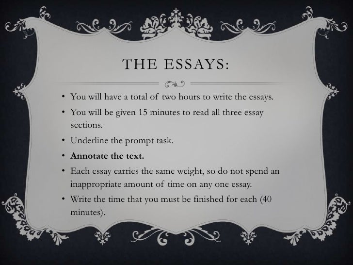 I need a website that tells you how to write an AP exam essay?